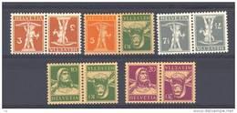 Suisse  -  1917  :  Yv  158a-62a  *      Tête-bêche - Tête-Bêche