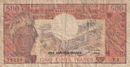 500 FRANCS 1983 - Camerún