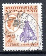 RHODESIE-NYASSALAND. N°21 Oblitéré De 1959. Mine De Cuivre. - Usines & Industries