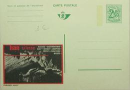 Publibel 2420 F Grottes Han Sur Lesse Tourisme, Tennis, Golf, Camping, Pêche, Canotage, Musée, Gastronomie - Entiers Postaux