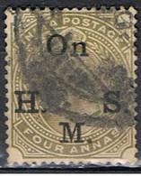 (INA 49) INDIA ANGLAISE // YVERT 43 TIMBRE SERVICE // 1902-09 - India (...-1947)