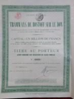 Tramways De Rostoff-sur-le-Don . Action Ordinaire Sans Valeur Nominale 1886 . Tirage 2000 Ex. - Russie