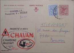 Publibel 2311 Charbons-Mazout Chavan- La Louvière, Dragon-énergie Fossiles 1970 - Entiers Postaux