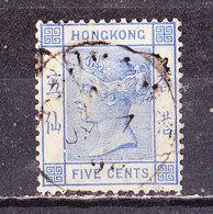 Hong Kong 1882  N° 37  5c Vittoria . Usato - Hong Kong (...-1997)