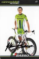 CARTE CYCLISME IVAN BASSO SIGNEETEAM CANNONDALE 2013 - Cyclisme