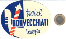 ETIQUETA DE HOTEL  -HOTEL BONVECCHIATI  -VENEZIA  -ITALIA - Hotel Labels