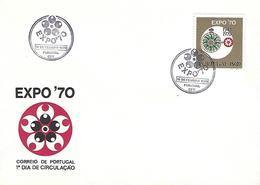 PORTUGAL - Osaka EXPO 1970 - FDC (Postmark - Funchal) - 1970 – Osaka (Japon)