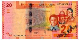 BOLIVIA 20 BOLIVIANOS 1986(2018) Pick 249 Unc - Bolivia
