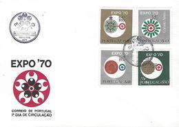 PORTUGAL - Osaka EXPO 1970 - FDC (Postmark - Coimbra) - 1970 – Osaka (Japon)