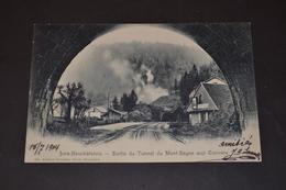 Carte Postale 1904 Suisse Sorti Du Tunnel Du Mont Sagne Aux Convers - Suisse