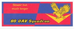 Stickers - Autocollant - 80 UAV Squadron - Aviación