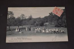 Carte Postale 1907 Suisse Scene Vaudoise Allons Danser Sous Les Ormeaux - Suisse