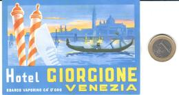 ETIQUETA DE HOTEL  - HOTEL GIORGIONE  -VENEZIA  -ITALIA - Hotel Labels