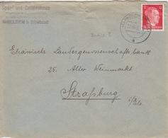 P Lettre à Entête (S.u.D. Markolsheim) Obl. Marckolsheim (T329 Markolsheim Els A) Sur TP Reich 12pf=1°éch Le 22/10/43 - Marcophilie (Lettres)