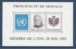 Monaco - Bloc YT N° 62 - Neuf Sans Charnière - 1993 - Blocks & Kleinbögen
