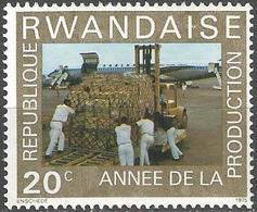 RWANDA 1975 (**) - Mi. 760, Fork-lift Truck On Airfield | Coffee Industry | Lift Truck - Rwanda