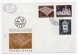 YUGOSLAVIA, FDC, 10.12.1975, COMMEMORATIVE ISSUE: EUROPEAN YEAR, PROTECTION OF ARCHITECTURAL HERITAGE - 1945-1992 Socialist Federal Republic Of Yugoslavia