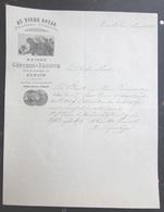 FATTURA AU TIGRE ROYAL PELETTERIE FOURRURES MAISON GUNTHER DANIOTH ZURICH ZURIGO SVIZZERA ANNO 1898 - Svizzera