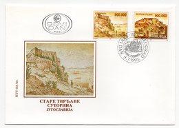 YUGOSLAVIA, FDC, 09.07.1993, COMMEMORATIVE ISSUE: OLD FORTRESS, SUTORINA - 1992-2003 Federal Republic Of Yugoslavia