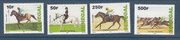 2009 2012 Senegal Horse Racing Horses Chevaux   Complete Set Of 4 MNH  DIFFICULT - Senegal (1960-...)