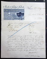 FATTURA STROH UND FILZHUT FABRIK A. & J. LADSTATTER WIEN ANNO 1902 - Autriche