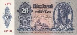 BILLETE DE HUNGRIA DE 20 PENGO DEL AÑO 1941 SIN CIRCULAR-UNCIRCULATED (BANKNOTE) - Hungría
