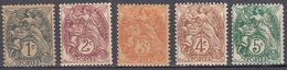 FRANCE - 1900/1924 -  Serie Completa Composta Da 4 Valori Nuovi MNH: Yvert 107/111. - 1900-29 Blanc