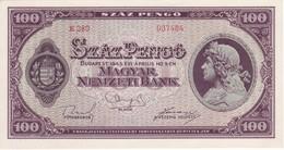 BILLETE DE HUNGRIA DE 100 PENGO DEL AÑO 1945 SIN CIRCULAR-UNCIRCULATED (BANKNOTE) - Hungría