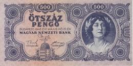 BILLETE DE HUNGRIA DE 500 PENGO DEL AÑO 1945 (BANKNOTE) - Hungría