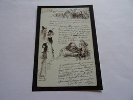 Carte Postale Lettre Preface De Charles Leandre A Emile Bayard 31 Aout 1900 (extrait) - France