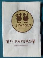 Servilleta,serviette Il Papero,pizzaria E Gelataria.Portugal - Serviettes Publicitaires