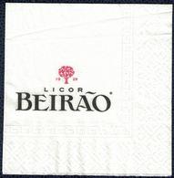 Portugal Serviette Papier Paper Napkin Liqueur Licor Beirão - Reclameservetten