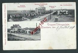 Elsenborn - Multivues.  Kantine Hammermann, Garnison-Verwaltungs-Gebäude, Eingang Ins Lager, Kommandantur. 2 Scans. - Elsenborn (camp)