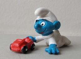 - SCHTROUMPF - Bébé Schtroumpf Voiture - Peyo 1984 - Schleich - - Smurfs
