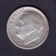 United States, 10c Roosevelt Dime, 1947-S, U.S.Mint San Francisco - Émissions Fédérales