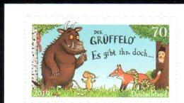 GERMANY, 2019, MNH, DER GRÜFELLO, CHILDREN'S BOOKS, FOXES,1v SA Ex. BOOKLET - Childhood & Youth