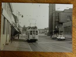 QUAREGNON  +TRAM:PHOTO 10X15 LE TRAM ARRIVE AUX 4 PAVES LE 16/09/1959 - Quaregnon
