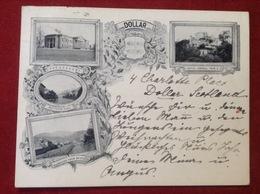 AK Litho Dollar Scotland Academy Castle Campbell Burnside Bridge Post Card 1899 - Clackmannanshire