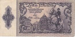 BILLETE DE AUSTRIA DE 10 SCHILLING DEL AÑO 1950 (BANKNOTE-BANK NOTE) - Austria
