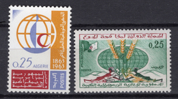 1963 - ALGERIA - Yv.  Nr. 377+383 - NH - (UP131.52) - Algeria (1962-...)