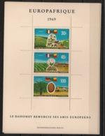 Dahomey - 1969 - Bloc-feuillet BF N°Yv. 16 - Europafrique - Neuf Luxe ** / MNH / Postfrisch - Bénin – Dahomey (1960-...)