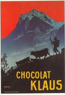 """CHOCOLAT KLAUS Par MOOS  - Edition """"l'Avion Postal - Saint Ouen """" - Publicité"""