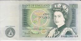 BILLETE DE REINO UNIDO DE 1 POUND DE LOS AÑOS 1978 A 1988   (BANKNOTE) - 1952-… : Elizabeth II