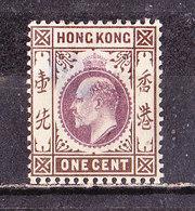 Hong Kong 1903 - Edoardo  1 C. Nuovo MLH - Unused Stamps