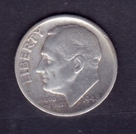 United States, 10c Roosevelt Dime, 1948-S, U.S.Mint San Francisco - Émissions Fédérales