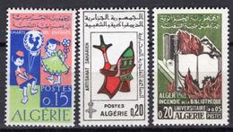 1963 - ALGERIA - Yv.  Nr. 404/406 - NH - (UP131.53) - Algeria (1962-...)