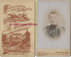 à Voir Beau Dos De CDV -photographie Des Sports (hippisme-course, Vélo...) R. Moraux à Paris-portrait Colorisé De Femme - Photographs