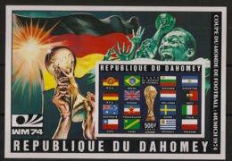 Dahomey - 1974 - Bloc-feuillet BF N°Yv. 22A - Football - Non Dentelé / Imperf. - Neuf Luxe ** / MNH / Postfrisch - Coppa Del Mondo