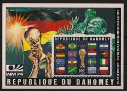 Dahomey - 1974 - Bloc-feuillet BF N°Yv. 22A - Football World Cup / Deutschland - Neuf Luxe ** / MNH / Postfrisch - Coppa Del Mondo