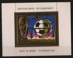Dahomey - 1974 - Bloc-feuillet BF N°Yv. 22C - Football World Cup - GOLD / OR - Neuf Luxe ** / MNH / Postfrisch - Bénin – Dahomey (1960-...)